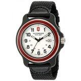 ราคา ราคาถูกที่สุด Victorinox Mens 249085 Original Xl Swiss Quartz Watch With Black Nylon Band Intl