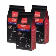 เมล็ดกาแฟคั่ว Vienna Blend ซองบรรจุ 250 กรัม 3 ซอง เป็นต้นฉบับ