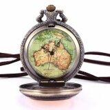 ราคา วินเทจสตีมพังค์ออสเตรเลียแผนที่จี้หัตถกรรมดอกไม้ยาวโซ่ Fobs ควอตซ์กระเป๋านาฬิกาเครื่องประดับของขวัญ Wpk131 นาฬิกาข้อมือชายและหญิง นานาชาติ สมุทรปราการ