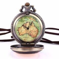 ขาย วินเทจสตีมพังค์ออสเตรเลียแผนที่จี้หัตถกรรมดอกไม้ยาวโซ่ Fobs ควอตซ์กระเป๋านาฬิกาเครื่องประดับของขวัญ Wpk131 นาฬิกาข้อมือชายและหญิง นานาชาติ สมุทรปราการ ถูก
