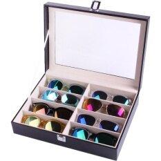 ส่วนลด Vintage กล่องใส่แว่นกันแดด Leather Sunglasses Box สำหรับ 8 อัน สีดำ เบจ Vintage Thailand