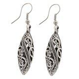 ส่วนลด Vintage Tibetan Silver Filigree Teardrop Dangle Drop Earrings Ear Jewelry Intl จีน