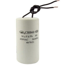 ราคา Vococal Cbb60 Ac 450V 16Uf Wired Motor Run Start Sh Capacitor 50 60Hz ใหม่