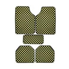 ซื้อ Vrj Car Accessories พรมปูพื้นลายหมากรุก พรมซิ่ง 5ชิ้น Free Size Yellow ใน กรุงเทพมหานคร