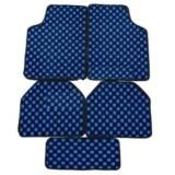 โปรโมชั่น Vrj Car Accessories พรมปูพื้นลายหมากรุก พรมซิ่ง Blue Vrj Car Accessories