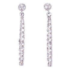 ราคา W Jewelry ต่างหูแฟชั่นประดับคริสตัลAustria รุ่น E0181 สีเงิน กึ่งทองคำขาว ใหม่ล่าสุด