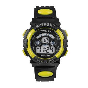 Wanyuelong อิเล็กทรอนิกส์นาฬิกาสำหรับผู้ชายและผู้หญิงนักเรียนเด็กนาฬิกากันน้ำเรืองแสง