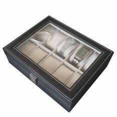 ขาย Watch Box กล่องใส่นาฬิกา กล่องนาฬิกา 10 เรือน ฝากระจก Black ใน กรุงเทพมหานคร