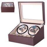 ส่วนลด กล่องนาฬิกาออโตเมติกแบบหมุน Watch Winder สำหรับนาฬิกาแบบหมุน 4 เรือน 6 เรือนQuartz สีน้ำตาล Brown
