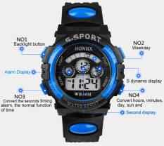 เด็กๆพากันน้ำแบบวันกีฬาปลุกนาฬิกาข้อมือพลอยสีน้ำเงิน By Cnb2c.