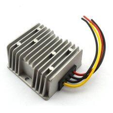 ส่วนลด Waterproof Dc Dc 12V 24V To 5V 10A 50W Buck Converter Car Display Power Supply Module Silver ฮ่องกง