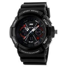 ขาย Waterproof Digital Lcd Alarm Date Mens Sport Wrist Watch Black Intl