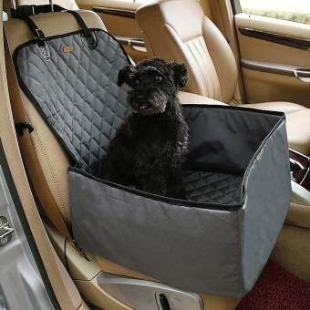 สุนัขกันน้ำรถบรรทุกสัตว์เลี้ยงกระเป๋าหิ้วใส่ของเบาะนั่งนิรภัย 2 ใน 1 Carrier Bucket Basket - INTL-