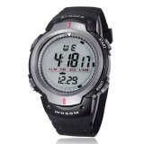 Waterproof Outdoor Sports Men Digital Led Quartz Alarm Wrist Watch Grey Intl เป็นต้นฉบับ