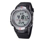 ราคา Waterproof Outdoor Sports Men Digital Led Quartz Alarm Wrist Watch Grey ใหม่