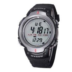 โปรโมชั่น Waterproof Outdoor Sports Men Digital Led Quartz Alarm Wrist Watch Grey Unbranded Generic ใหม่ล่าสุด