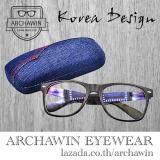 ซื้อ แว่นตากรองแสง แว่นกรองแสง กรอบแว่นตา แฟชั่น เกาหลี ทรง Wayfarer Style รุ่น Kabugi X Black กรองแสงคอม กรองแสงมือถือ ถนอมสายตา ฟรี กล่องใส่แว่น โครงแข็ง ลายผ้ายีนส์ ใน กรุงเทพมหานคร