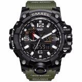 ราคา Smael รุ่น 1545 นาฬิกาข้อมือ นาฬิกาแฟชั่น ผู้ชาย สีเงิน Watch Waterproof Fashion Watch Men Sport Analog Quartz Watch Dual Display Led Digital Electronic Watches Relogio ใหม่