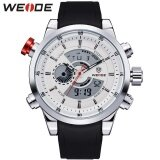 ส่วนลด Weide Men Quartz Military Watch Analog Digital 3Atm Waterproof Rubber Strap Men Sports Watches Wh3401 Silver White Intl Weide ใน จีน