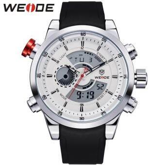 แนะนำ WEIDE Men Quartz Military Watch Analog Digital 3ATM Waterproof Rubber Strap Men Sports Watches WH3401