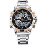 ขาย Weide Wh1104 Men S Big Screen Lcd Backlight Dual Time Date Alarm Stop Analog Digit Multi Function Sports Waterproof Watch Rose Gold Intl ออนไลน์ ใน จีน