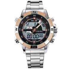 ซื้อ Weide Wh1104 Men S Big Screen Lcd Backlight Dual Time Date Alarm Stop Analog Digit Multi Function Sports Waterproof Watch Rose Gold Intl ออนไลน์ ถูก