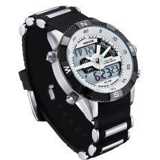 ราคา Weide Wh1104Pu Bw Men S Resin Band Quartz Digital Analog Wrist Watch White ใหม่ล่าสุด