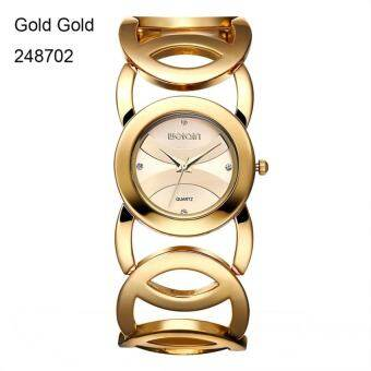 WEIQIN แบรนด์เมจิกหรูหรานาฬิกานาฬิกาข้อมือสแตนเลสสตีลแฟชั่นผู้หญิงเฒ่าผู้หญิงเชิงพาณิชย์นาฬิกานาฬิกาข้อมือ ES Feminino 2487-