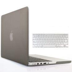 Welink 3 ใน 1 Matte แอปเปิลแม็กบุคโปร 15 กรณีจอตา/soft - Touch พลาสติกเคสแข็ง + ปลั๊กฝุ่น + แผ่นครอบแป้นพิมพ์สำหรับ Macbook Pro 15 นิ้ว Retina [โมเดล: A1398] (สีเทา) By Welink.