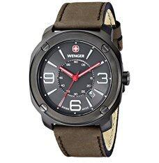 ซื้อ Wenger ผู้ชาย 01 1051 104 Escort นาฬิกาสแตนเลสพร้อมสายหนังสีน้ำตาล สนามบินนานาชาติ Unbranded Generic เป็นต้นฉบับ