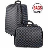 ขาย ซื้อ Wheal กระเป๋าเดินทางล้อลาก ระบบรหัสล๊อค ขนาด 18 นิ้ว 14 นิ้ว Luxury Classic Black Grey Code F1814 G สมุทรปราการ