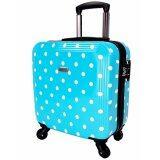 ส่วนลด สินค้า Wheal กระเป๋าเดินทางล้อลาก 16 นิ้ว 4 ล้อ หมุนรอบ 360° Polycarbonate Deluxe Dot Code Pcn60016 2 Sky Blue