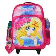 ส่วนลด Wheal กระเป๋าเป้มีล้อลากสำหรับเด็ก เป้สะพายหลังกระเป๋านักเรียน 16 นิ้ว รุ่น Princess 06916 Pink