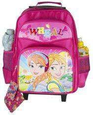 ขาย Wheal กระเป๋าเป้มีล้อลากสำหรับเด็ก เป้สะพายหลังกระเป๋านักเรียน 16 นิ้ว รุ่น Princess 85316 Pink ใหม่