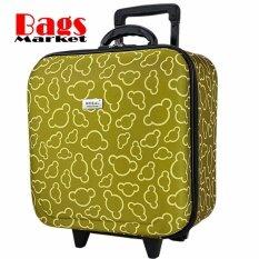 ราคา Wheal กระเป๋าเดินทางหน้านูน กระเป๋าล้อลาก 16X16 นิ้ว Code F33516 Micky Mouse Green เป็นต้นฉบับ Wheal