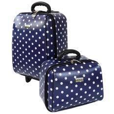 ขาย Wheal กระเป๋าเดินทางเซ็ทคู่ 18 14 นิ้ว Code 60018 2 B Point Blue ผู้ค้าส่ง