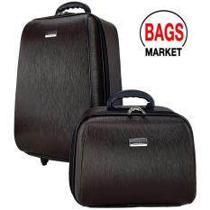 ขาย ซื้อ ออนไลน์ Wheal กระเป๋าเดินทางระบบรหัสล๊อค เซ็ทคู่ 20 14 นิ้ว Wood Classic Code F780320 2 Dark Brown ลิขสิทธิ์แบรนด์แท้ จากโรงงานผู้ผลิตโดยตรง
