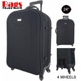 โปรโมชั่น Wheal กระเป๋าเดินทาง 24 นิ้ว รุ่นใหม่ 4 ล้อหมุนรอบ 360O แบบซิปขยาย New Collection Code F262624 1 Black Black ถูก