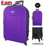 ขาย Wheal กระเป๋าเดินทาง 24 นิ้ว รุ่นใหม่ 4 ล้อหมุนรอบ 360O แบบซิปขยาย New Collection Code F262624 4 Black Purple Wheal เป็นต้นฉบับ