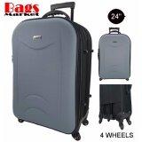 Wheal กระเป๋าเดินทาง 24 นิ้ว รุ่นใหม่ 4 ล้อหมุนรอบ 360O แบบซิปขยาย New Collection Code F262624 5 Black Grey เป็นต้นฉบับ