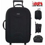 ซื้อ Wheal กระเป๋าเดินทางขนาดใหญ่ 24 นิ้ว แบบซิปขยาย 4 ล้อคู่ด้านหลัง Code Fbl161624 1 Black ใหม่