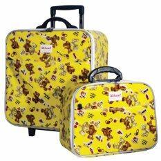 ซื้อ Wheal กระเป๋าเดินทางเซ็ทคู่ 16 12 นิ้ว Code 604901 B Bear Mini Yellow ถูก
