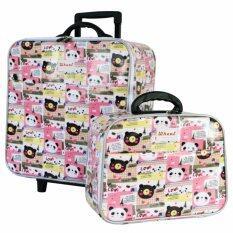 ราคา Wheal กระเป๋าเดินทางเซ็ทคู่ 16 12 นิ้ว Code 604902 B Bear Love Pink ใหม่