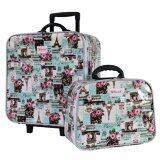 ราคา ราคาถูกที่สุด Wheal กระเป๋าเดินทางเซ็ทคู่ 16 12 นิ้ว Code 604906 Rose Eiffel Green