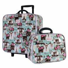 ซื้อ Wheal กระเป๋าเดินทางเซ็ทคู่ 16 12 นิ้ว Code 604906 Rose Eiffel Green ถูก ใน Thailand