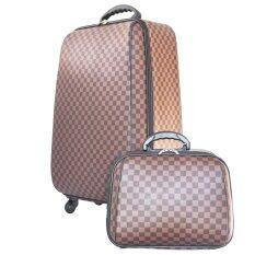 ราคา Wheal กระเป๋าเดินทางเซ็ทคู่ 4 ล้อหมุนรอบ 360° ขนาด 22 14 นิ้ว Louise Brown Classic New Collection ที่สุด