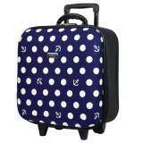 ขาย ซื้อ Wheal กระเป๋าเดินทางหน้านูน กระเป๋าล้อลาก 16X16 นิ้ว Code F33516 B Dot Anchor Blue
