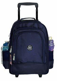 Wheal กระเป๋าเป้มีล้อลาก สะพายหลังกระเป๋านักเรียน 16 นิ้ว รุ่น 68116 (Navy Blue)