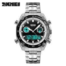 ขาย ขายส่ง Skmei กีฬานาฬิกาผู้ชาย 30 เมตรนาฬิกากันน้ำแบบอิเล็กทรอนิกส์นาฬิกาหรูสแตนเลสนาฬิกาข้อมือแบบคู่ 1204 นานาชาติ Skmei ถูก