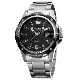 ขาย Wholesale Skone 2473 Men Watch นาฬิกาข้อมือ Date Steel Band Silver Watch นาฬิกาข้อมือ Es Hour Quartz Fashion Casual Dress Business Wristwatch นาฬิกาข้อมือ Clock Male Skone